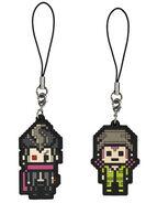 FuRyu Minna no Kuji Dot Rubber Mascots Gundham Tanaka and Kazuichi Soda OOB