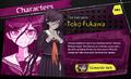 Promo Profiles - Danganronpa Another Episode (English) - Toko Fukawa