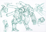 Danganronpa 3 - Character Profiles - Robot that fights Nekomaru (Sketches)
