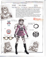 Danganronpa V3 - Day One Dossier Art Booklet - Miu Iruma