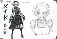 Art Book Scan Danganronpa V3 Character Designs Betas Kirumi Tojo (4)