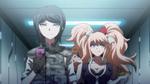 Despair Arc Episode 6 - Mukuro and Junko heading to see Izuru Kamukura (2)