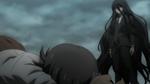 Despair Arc Episode 11 - Izuru watching Junko kick Mukuro