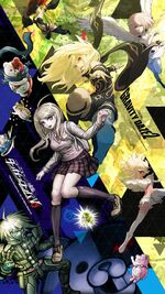 Digital MonoMono Machine New Danganronpa V3 x Gravity Daze 2 iPhone wallpaper
