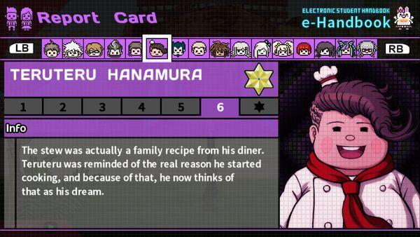 Teruteru Hanamura Report Card Page 6