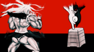 Danganronpa 1 CG - Sakura fighting Monokuma (04)