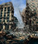 Danganronpa 2 CG - The city ruins (1)