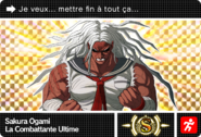 Danganronpa V3 Bonus Mode Card Sakura Ogami S FR