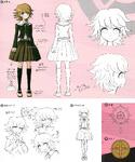 Danganronpa 1 Character Design Profile 1.2 Reload Artbook Chihiro Fujisaki
