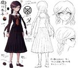Danganronpa 1 Character Design Profile Toko Fukawa