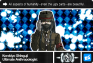 Danganronpa V3 Bonus Mode Card Korekiyo Shinguji N ENG