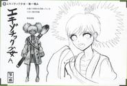 Art Book Scan Danganronpa V3 Character Designs Betas Angie Yonaga (1)