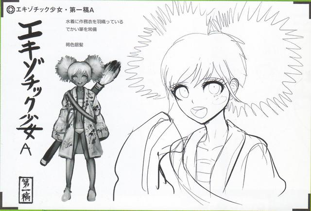 File:Art Book Scan Danganronpa V3 Character Designs Betas Angie Yonaga (1).png