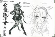 Art Book Scan Danganronpa V3 Character Designs Betas Tenko Chabashira (4)