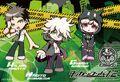 Danganronpa 2 Hajime Hinata, Nagito Komaeda, and Chiaki Nanami Postcard from Limited Base