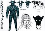 Danganronpa 3 Booklet - Design Sketches - Great Gozu