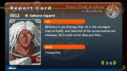 Sakura Ogami Report Card Page 5