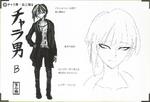 Art Book Scan Danganronpa V3 Character Designs Betas Rantaro Amami (2)
