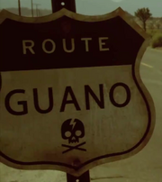 Route Guano Sign