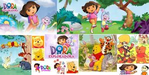 Dora la exploradora, Winnie the Pooh y sus amigos y Dani (yo)