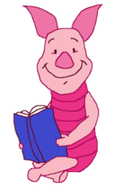 Piglet with Book