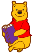 Winnie the Pooh with Book