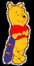 Winnie the Pooh with Skateboard