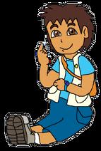 Diego poses