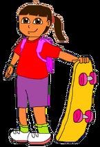 Mar Oliver with skateboard 2