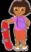 Dora with Skateboard 3