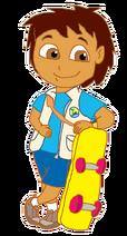 Diego with Skateboard 3