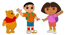 Dora la Exploradora, Dani el Explorador y Winnie the Pooh 2