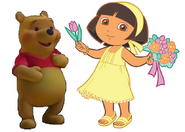 Dora y Pooh