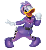 Daisy Duck (Roadster Racers) poses
