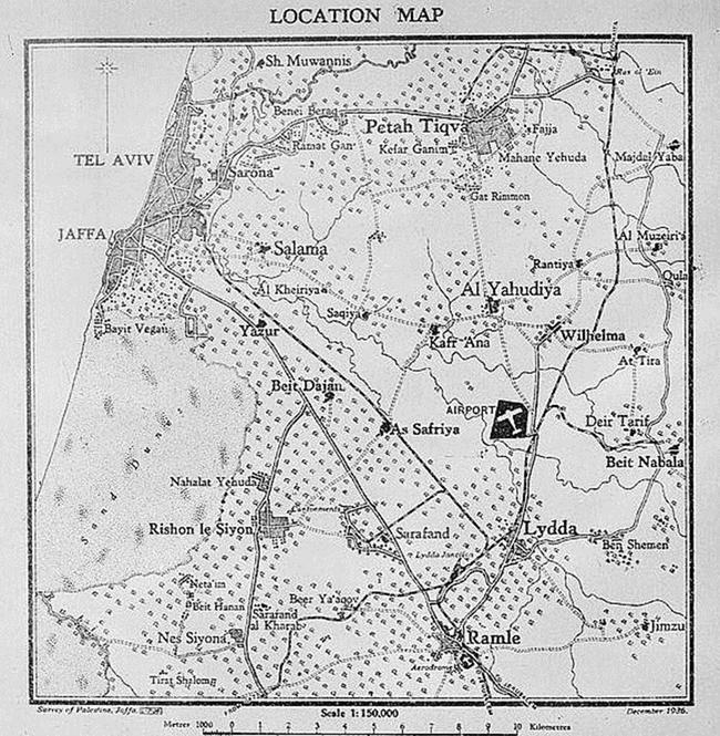 תוואחי מסילת הברזל לממחנות הצבא בצריפין רמלה עד בית נבאללה - במקור על דיר בלוט ראה כאן