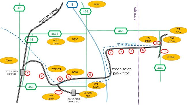 The Train to A-Luban village - map