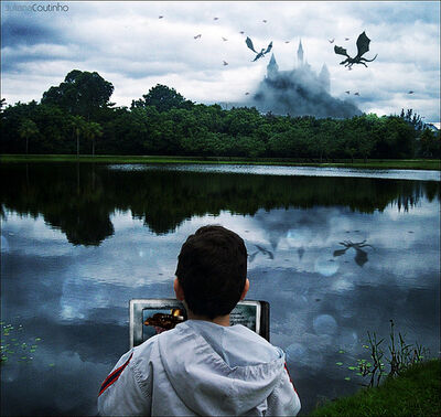Imagination of a little boy