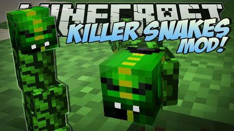 Minecraft KILLER SNAKES MOD (Become a Snake Charmer!) Mod Showcase