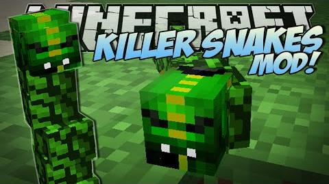 Minecraft KILLER SNAKES MOD (Become a Snake Charmer!) Mod Showcase