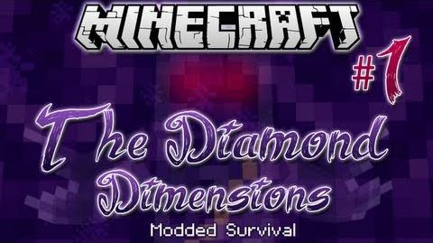 """PUNCH WOOD MAN!"" - Diamond Dimensions Modded Survival -1 - Minecraft"