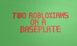 Two Robloxians on a Baseplate