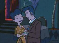 Jane and Nathan dancing