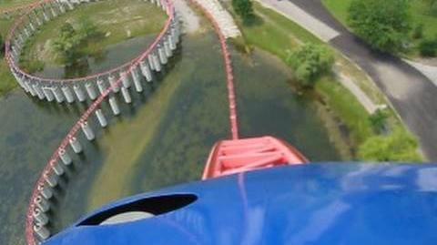 Ride of Steel Front Seat on-ride POV Darien Lake