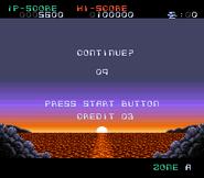 Darius Force - Continue Screen