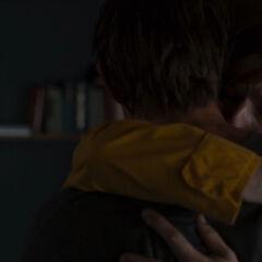 Father-son hug