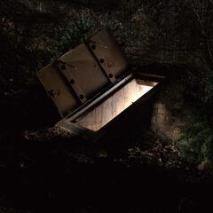 The open bunker door