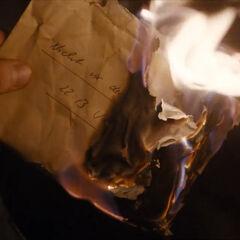 Burning the letter