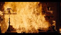 Adam's house on fire