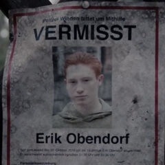 Erik's missing person flyer
