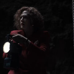 Claudia in the cave